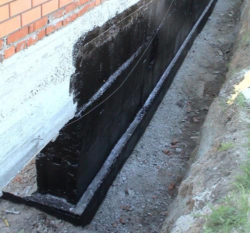 После заливки фундамента когда можно делать гидроизоляцию. Горизонтальная