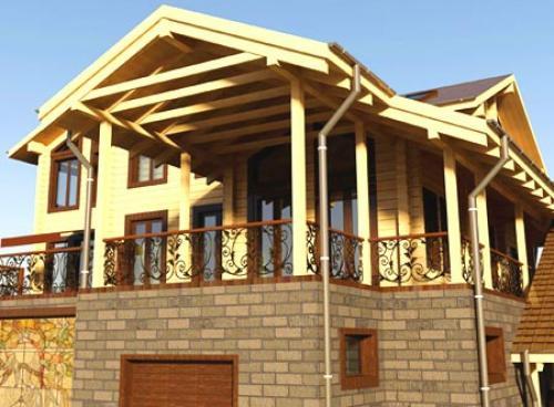 Строительство домов комбинированных. Респектабельные дома из кирпича и дерева