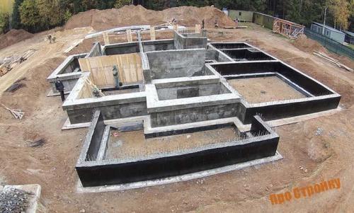 Все о строительстве домов из пеноблоков. Основание