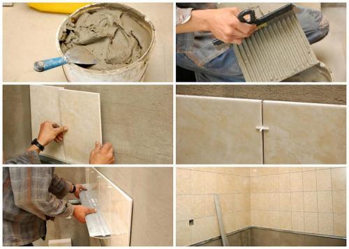Как положить плитку на стену в кухне. Технология работ