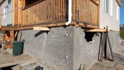 Ремонт фундамента в своем доме. Возможные варианты ремонта