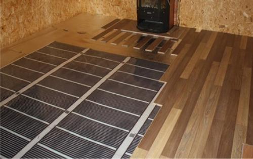 Инфракрасный теплый пол под ламинат на деревянный пол. Особенности укладки теплого пола под ламинат