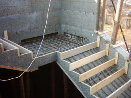 Лестница бетонная. Технологический цикл изготовления