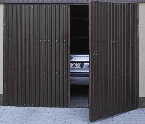 Ворота к гаражу виды. Виды ворот по конструкции