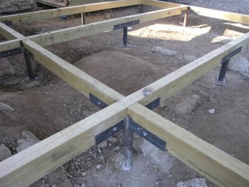Нижняя обвязка каркасного дома на ленточном фундаменте. Общая информация