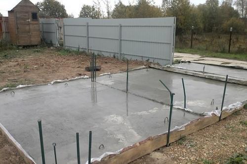 Толщина бетонный пол в гараже. Толщина бетона для площадки под машину