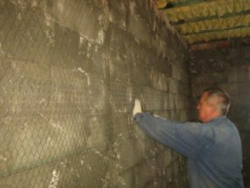 Технология оштукатуривание стен цементным раствором керамзитобетон или газоблок для бани
