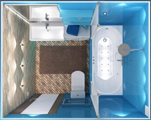 Планировка ванной комнаты с ванной. Замер ианализ использования площади