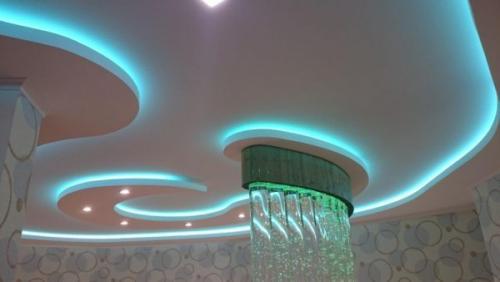 Одноуровневый парящий потолок. Парящий натяжной потолок. Что это такое